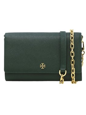 0ac9ec959ba Product Image Tory Burch Emerson Chain Wallet Cross Body Bag in Jitney Green