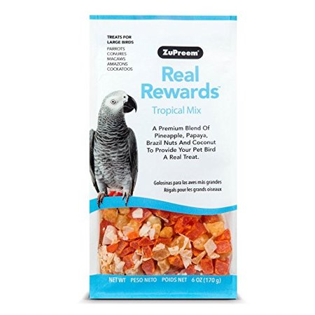 Zupreem Real Rewards Tropical Mix Recipe Large Dry Bird Food, 6 (Coloured Tropical Bird With A Large Beak)