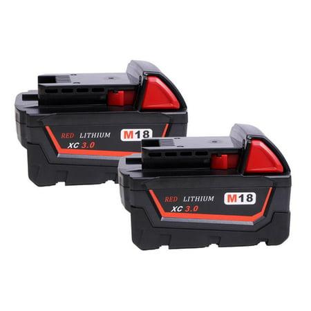 2PACK Battery for MILWAUKEE M18 Extended 48-11-1820 3000mAh Li-ion 18V XC3.0 for $<!---->