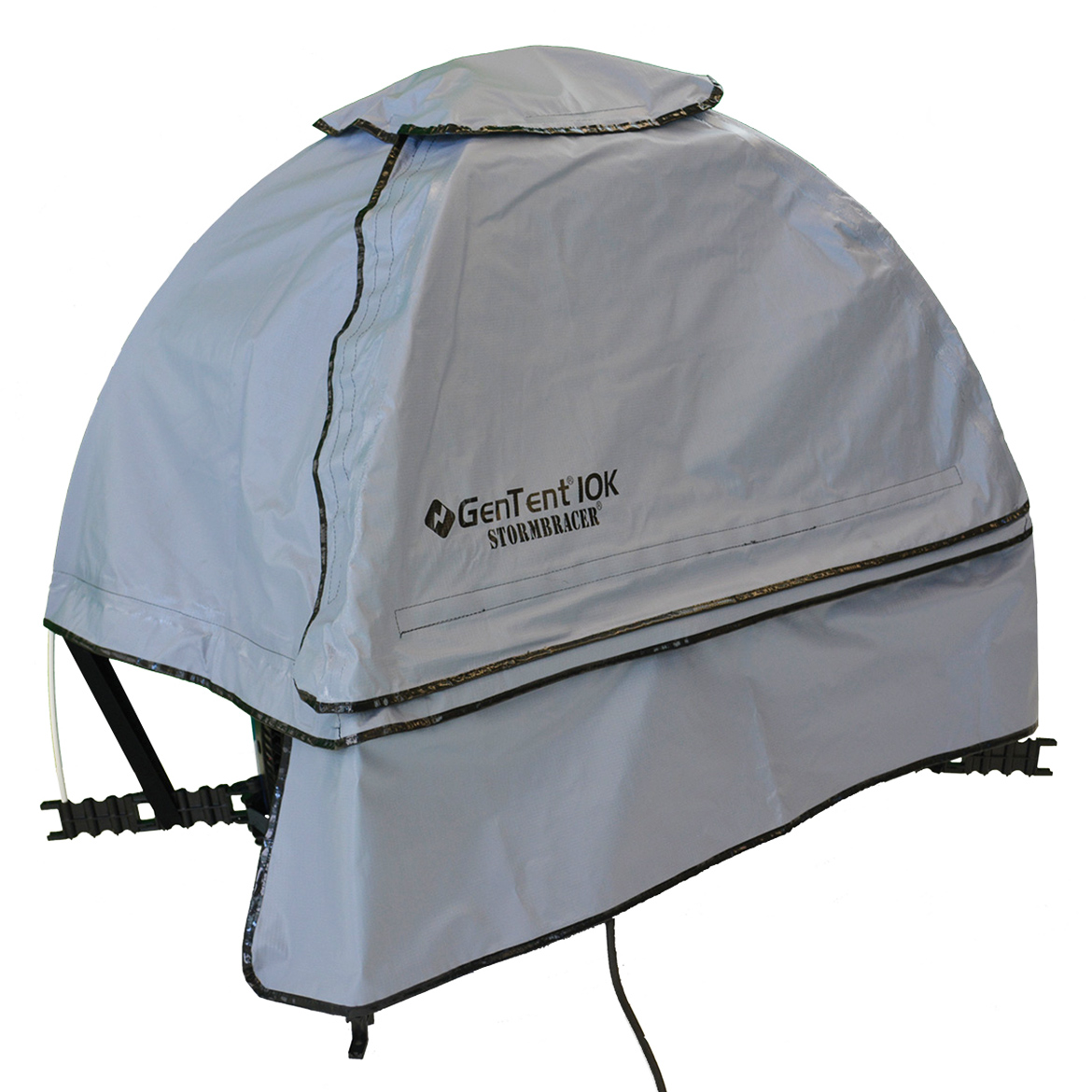 GenTent 10k Stormbracer Edition For 1000W-3000W Inverters Generator Grey Skies Canopy Safety Tent- Assembled In USA