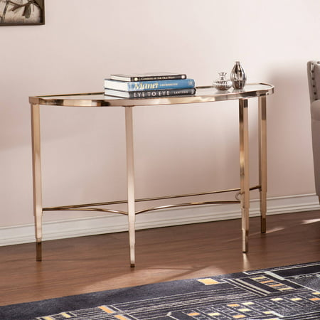 Southern Enterprises Sicily Art Deco Console Table, Metallic Gold](Art Deco Table)