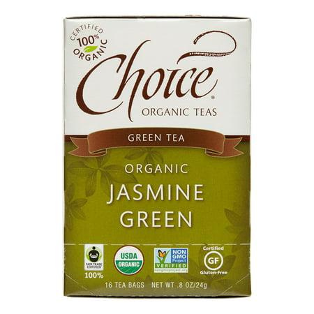 Choice Organic Teas Thé vert au jasmin - 16 sachets de thé
