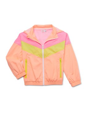 Wonder Nation Girls Colorblocked Wind Breaker (Big Girls, Little Girls, Plus)