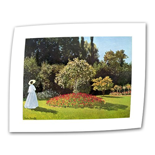 ArtWall ''Woman in Park with Poppies'' by Claude Monet Print of Painting on Canvas