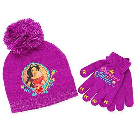 Princess Elena of Avalor Girls Beanie Hat and Gloves - Princess Hats