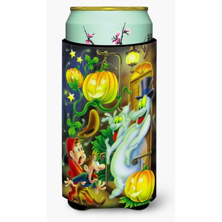 Scary Ghosts and Halloween Trick or Treaters Tall Boy Beverage Insulator Hugger APH0933TBC - Best Halloween Treats For Trick Or Treaters