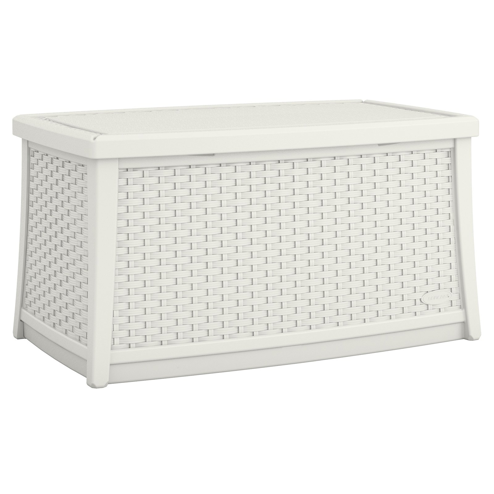 Suncast Elements Resin Patio Storage Coffee Table White Walmart