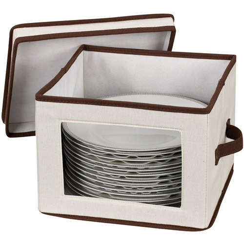 Household Essentials Window Vision Dinner Plate/Bowl Chest