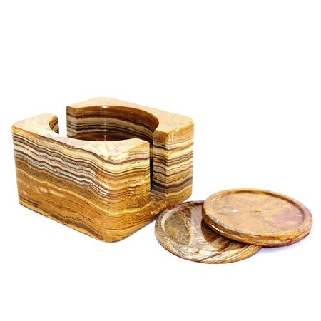 Nature home decor 7 piece coaster set for Decor 7 piece lunch set