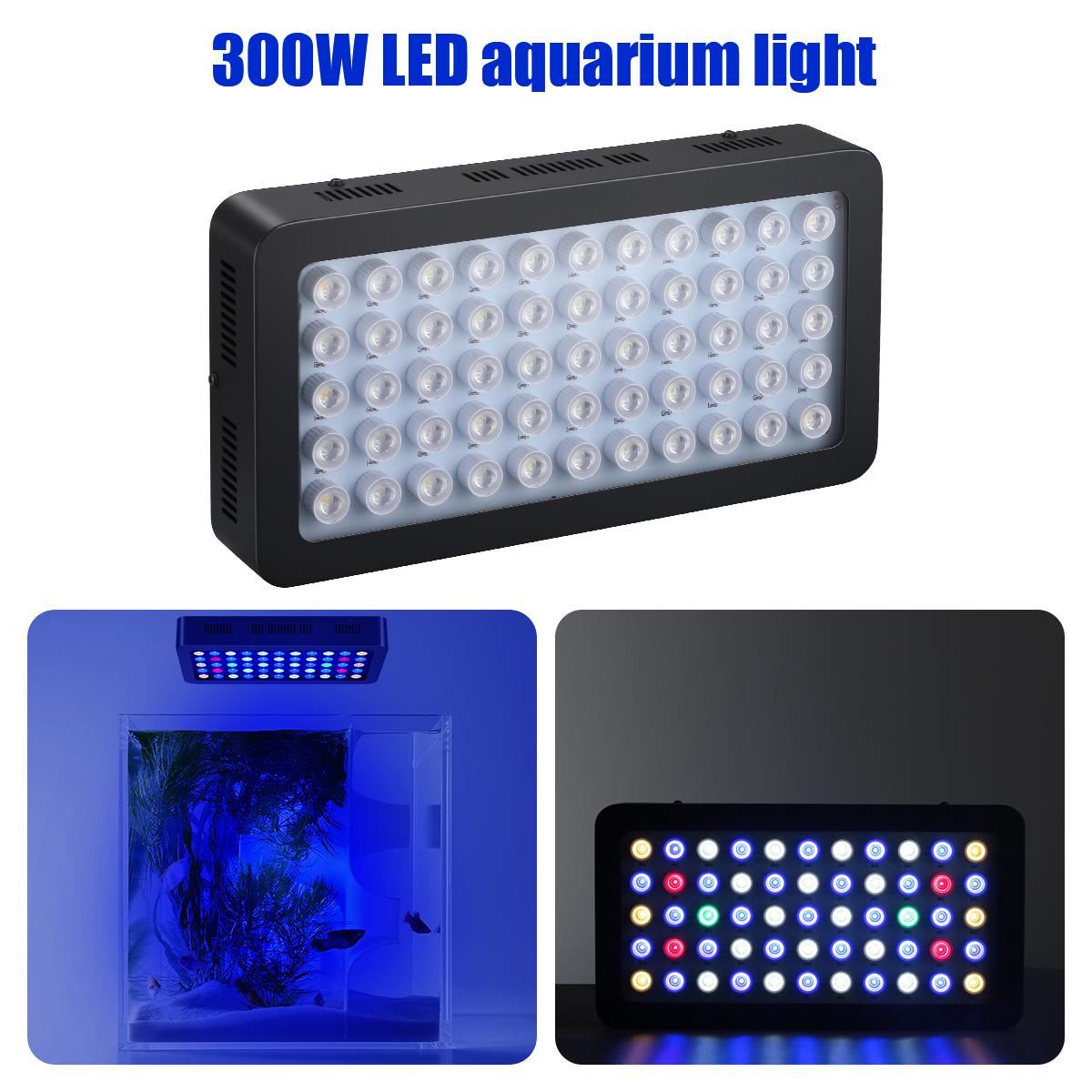 Excelvan 300W LED Aquarium Light Full Spectrum Submersible Marine Lamp W/Dimmers