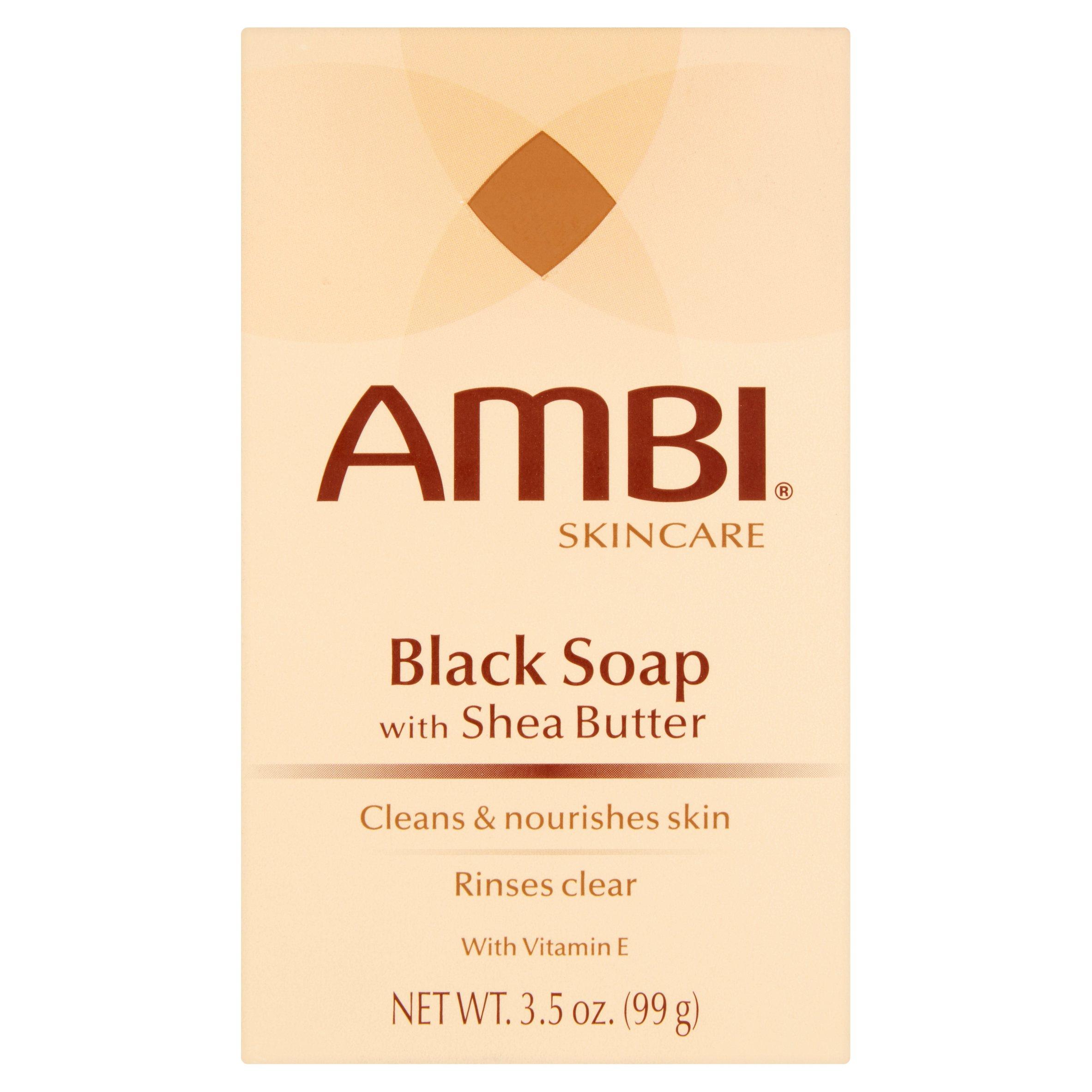 Ambi Skincare Black Soap with Shea Butter, 3.5 oz - Walmart.com