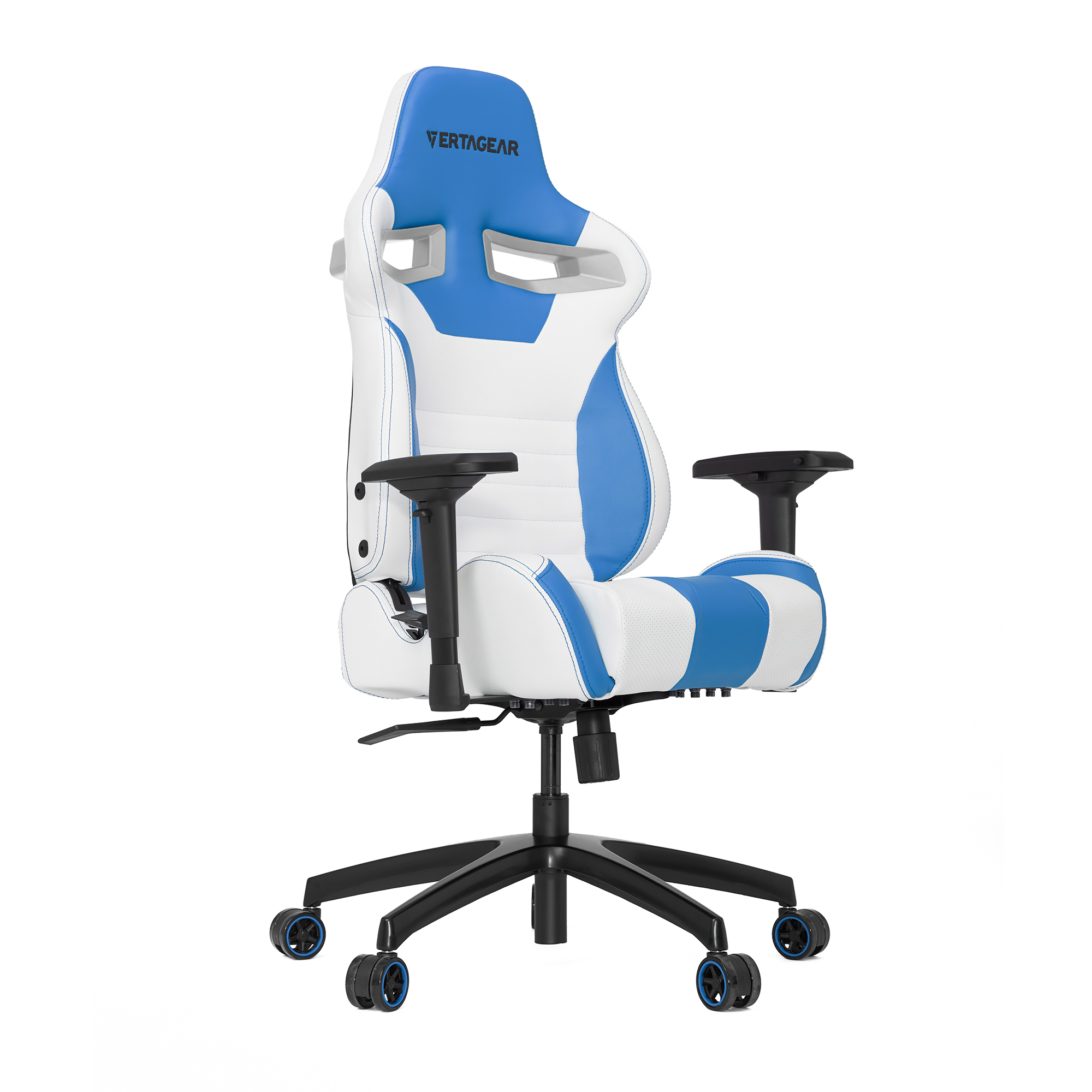 Vertagear S-Line SL4000 Racing Game Chair Computer Gaming Chair - White/Blue