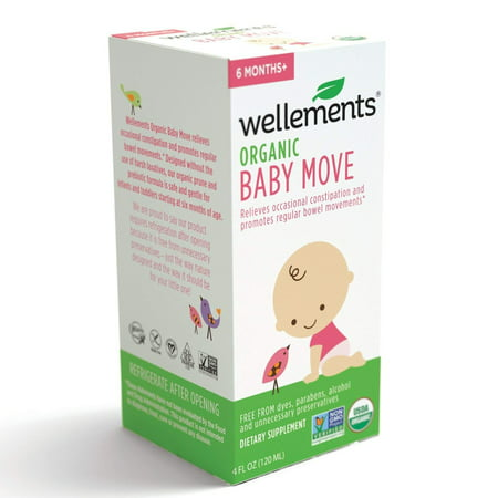 Wellements Baby Move for Constipation, 4 Fl Oz, Free From Dyes, Parabens, Alcohol, and Preservatives ()