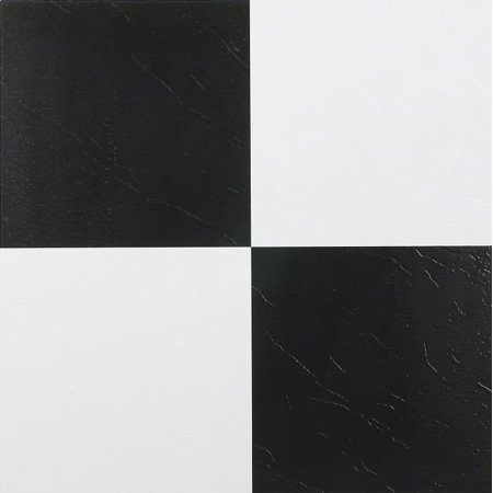 Achim Nexus Black & White 12x12 Self Adhesive Vinyl Floor Tile - 20 Tiles/20 sq. -