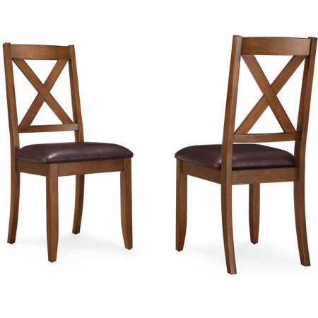 American Woods Chair (Better Homes & Gardens Maddox Crossing Dining Chair, Set of 2, Brown )