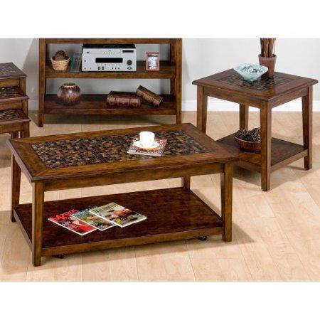 Jofran Baroque Brown Rectangular 3 Piece Coffee Table Set