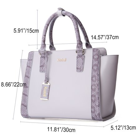 Kadell Women Fashion Purse Handbag Top-handle Cross Body Purse Elegant Durable PU Leather Tote Bag  - image 8 of 9