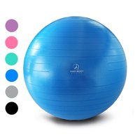 Exercise Ball - Professional Grade Anti-Burst Fitness and Balance Ball (Pump not included)