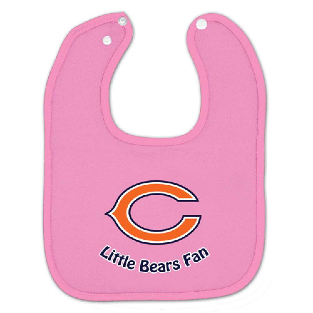 """Chicago Bears C"""" Dark Pink Baby Bib"""""""