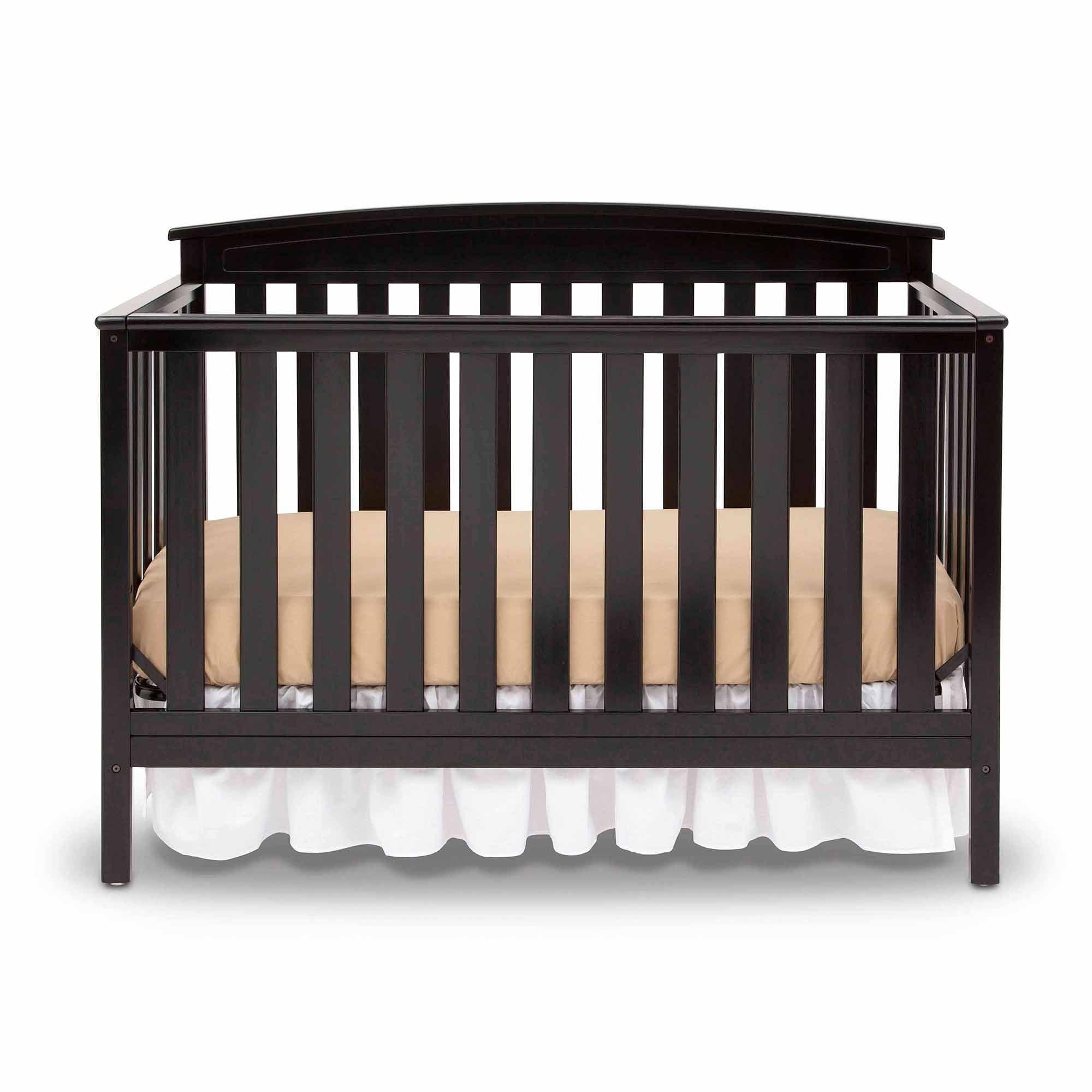 Delta Children Gateway 4-in-1 Convertible Crib, Black