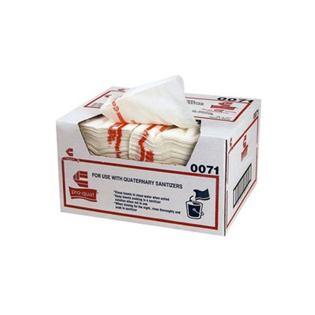 Chicopee CHI0078 Heavy Duty Pro-Quat Fresh Guy Food Service Towels, Red - 12.5 x 17 in.