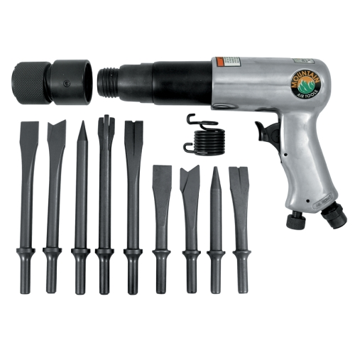 Air Hammer and 9 Piece Chisel Set