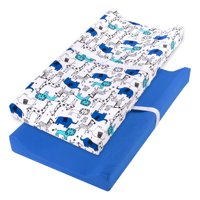 Little Star Organic 100% Pure Organic Cotton Changing Pad Cover, 2 Pk, Blue