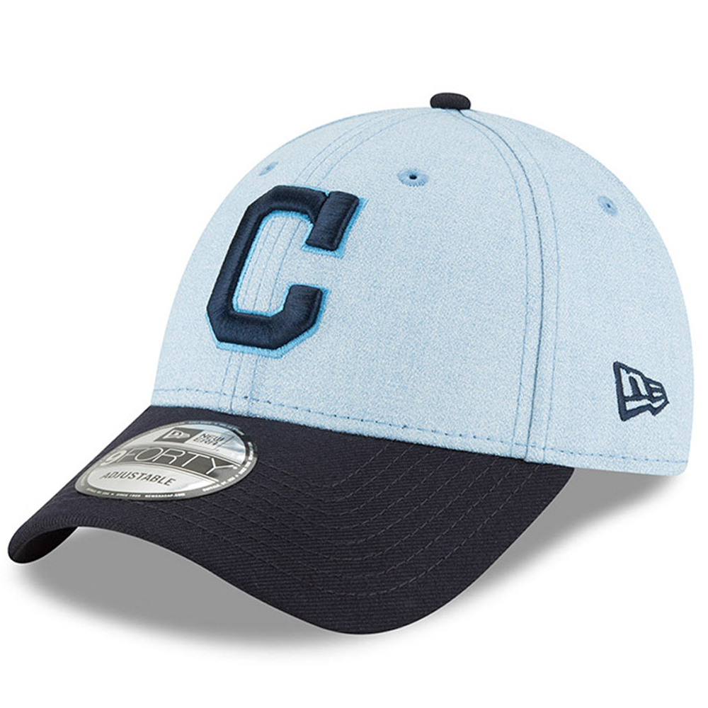 Cleveland Indians New Era 2018 Father's Day 9FORTY Adjustable Hat - Light Blue - OSFA