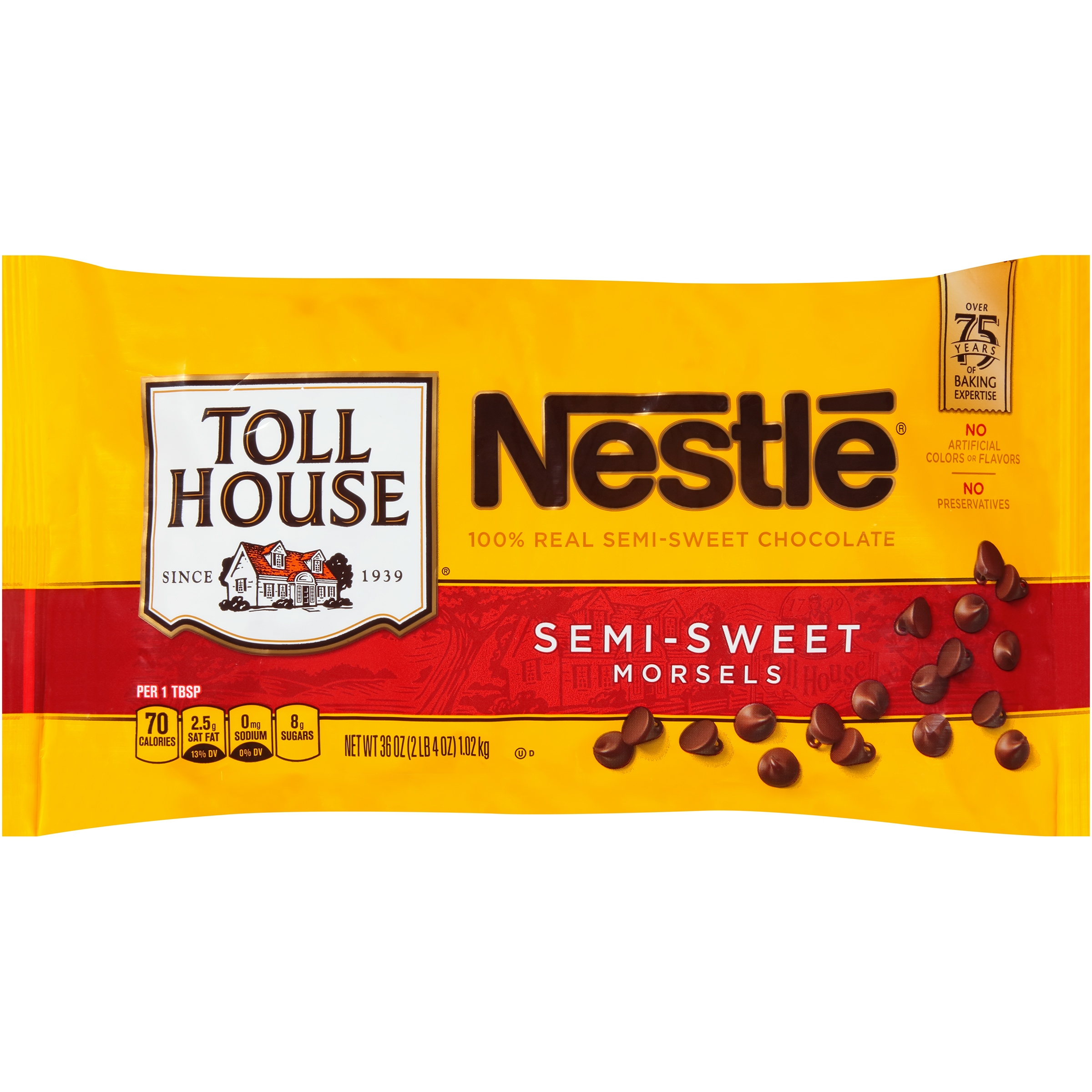 Nestlé TOLL HOUSE Semi-Sweet Chocolate Morsels 36 oz. Bag