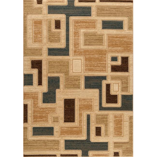 Central Oriental Shadows Jacob Sand Area Rug
