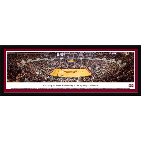 Mississippi State Bulldogs Basketball Blakeway Panoramas Ncaa College Print With Select Frame And Single Mat