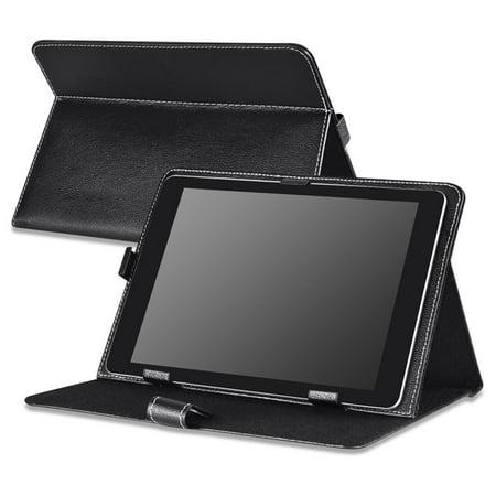 Viking Leather - Insten 10-Inch Universal Leather Case For RCA 10 Viking Pro Pro10 / Visual Land Prestige Elite 10QS Prime 10E / Ematic Genesis Prime XL eGlide XL Pro II Tablet