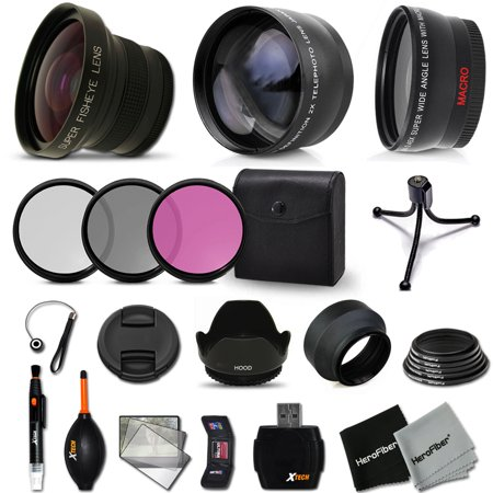 58mm Lens + Accessory Kit for CANON EOS Rebel T6, T6i T6S T5i T4i T3i T2i T1i XTi XT SL1 XSi, EOS M, EOS M2, EOS 80D, 70D 60D 7D Mark II DSLR