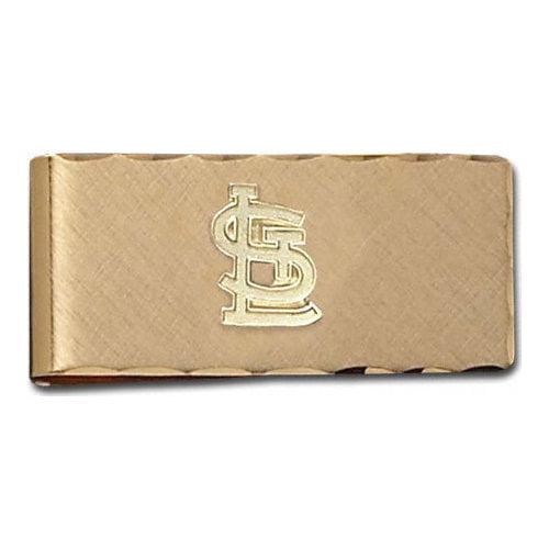 MLB - St. Louis Cardinals Gold Plated Brass Money Clip