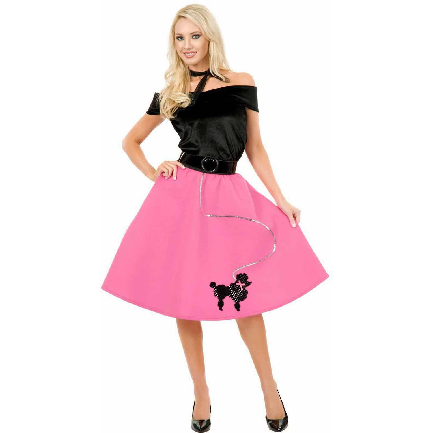 Pink Poodle Skirt Plus Size Women's Adult Halloween Costume