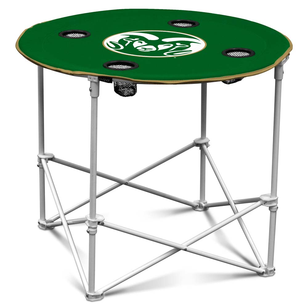 Colorado State Round Tailgate Table