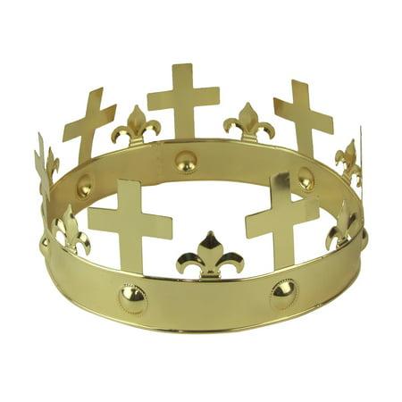 Heavy Metal Costume Ideas (Heavy Metal Gold Fleur De Lis Crown Medieval Movie Prop Theater Costume)