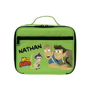 Personalized Wild Kratts Monkey and Kratt Brothers Green Kids Lunch Box