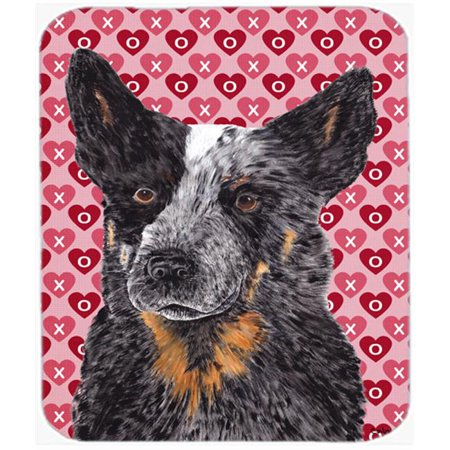 Australian Cattle Dog Hearts Love Valentines Day Mouse Pad, Hot Pad Or