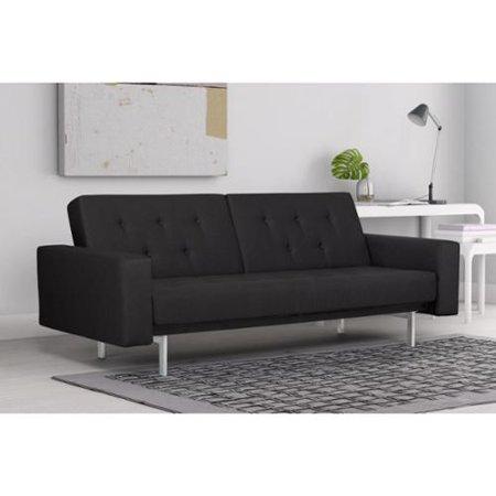 dhp black premium city linen queen futon