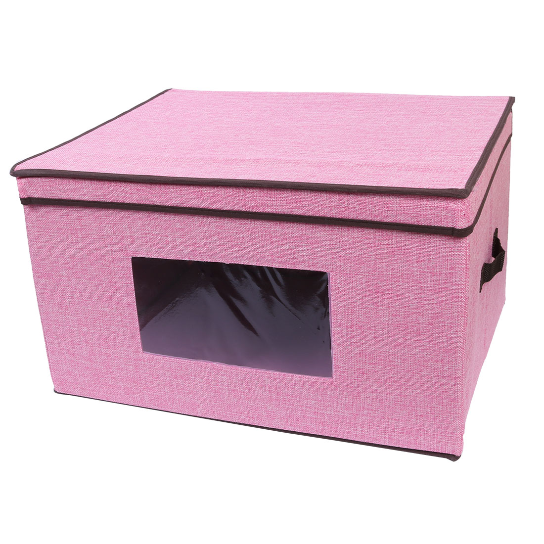 Home Linen Foldable Coat Quilt Book Holder Storage Box Case Pink 50 x 40 x 30cm