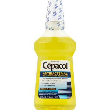 Cepacol Antibacterial Mouthwash, Gold - 24 fl oz - Multiprotection Antigingivitis Antiplaque Oral Rinse ()