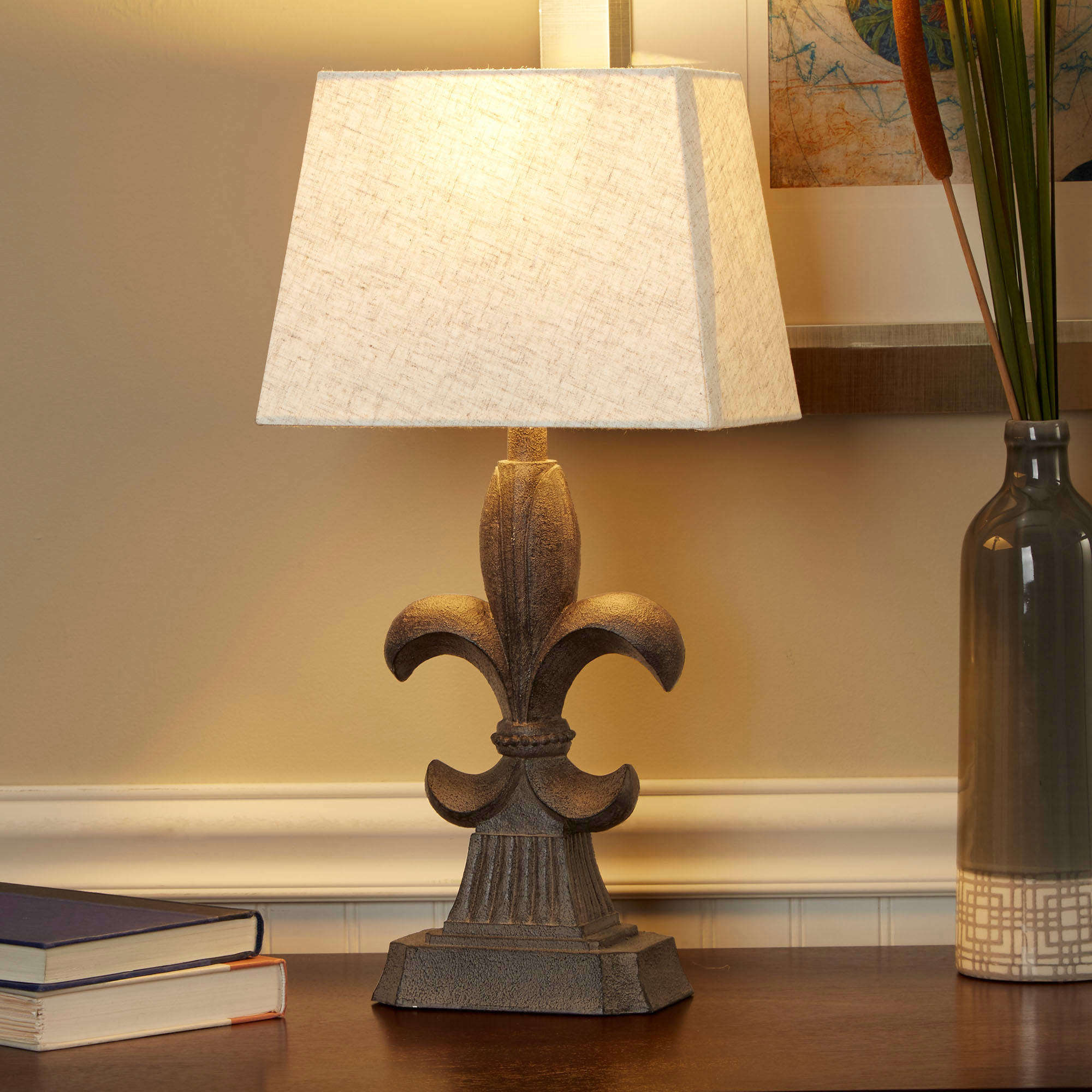de shades decorations pride charming fleur lis lamp black drum table of for lamps lovely