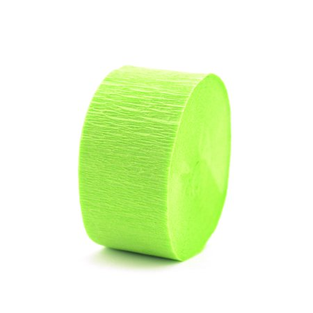 Crepe Paper Streamers light green (pack of 12)