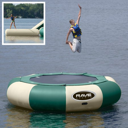 - 15 ft. RAVE Sports Northwoods Aqua Jump Eclipse Water Trampoline Package