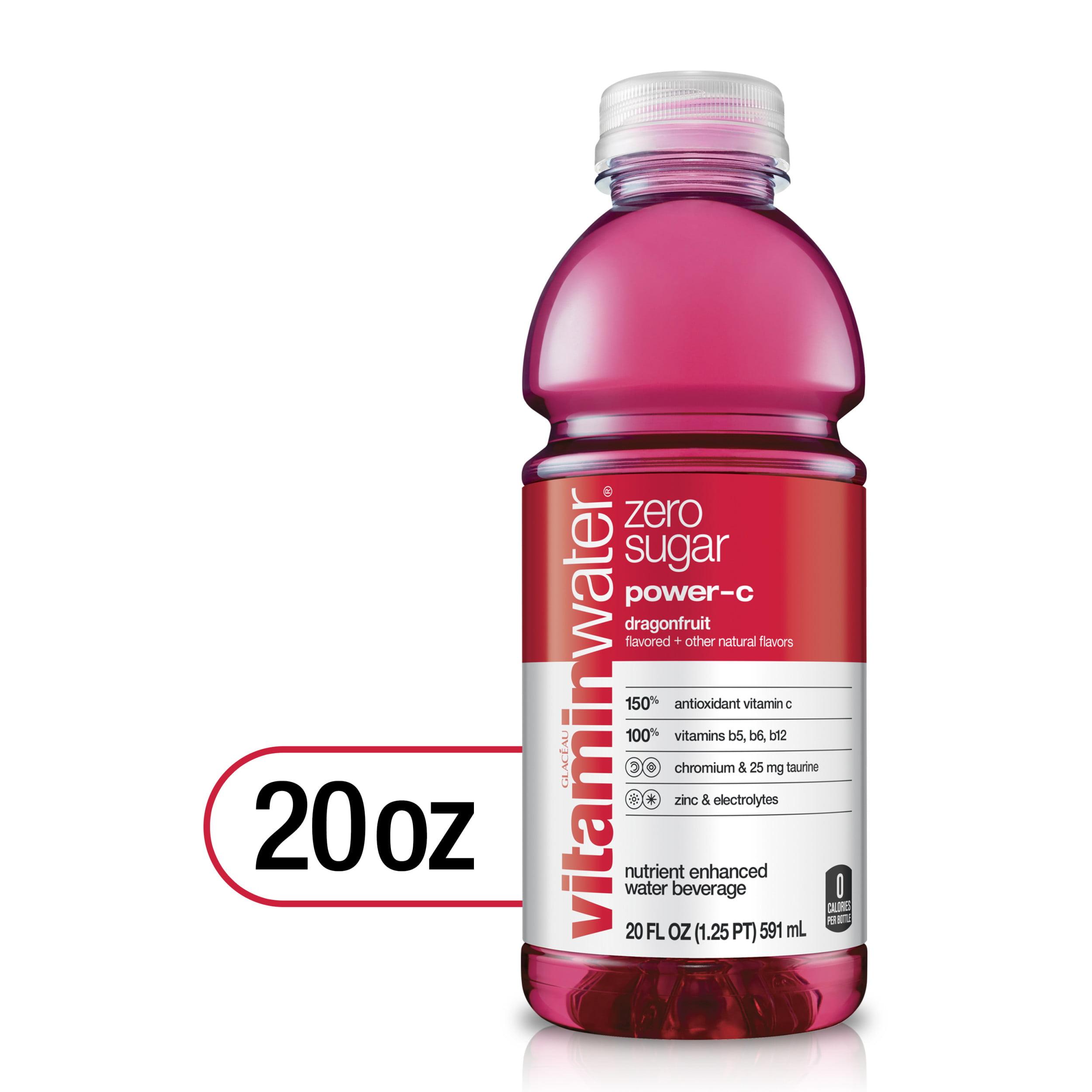 vitaminwater zero power c, electrolyte enhanced water w/ vitamins,  dragonfruit drink, 20 fl oz - Walmart.com - Walmart.com