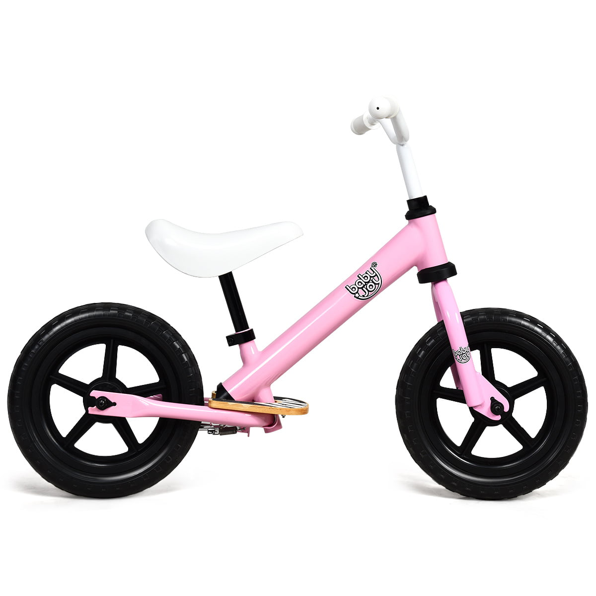 """12/"""" Kids Balance Bike No Pedal Sport Training Bicycle with Adjustable Seat Blue"""