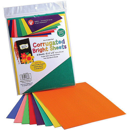 "Corrugated Sheets, 8.5"" x 77"", 8/Pkg, Brights"