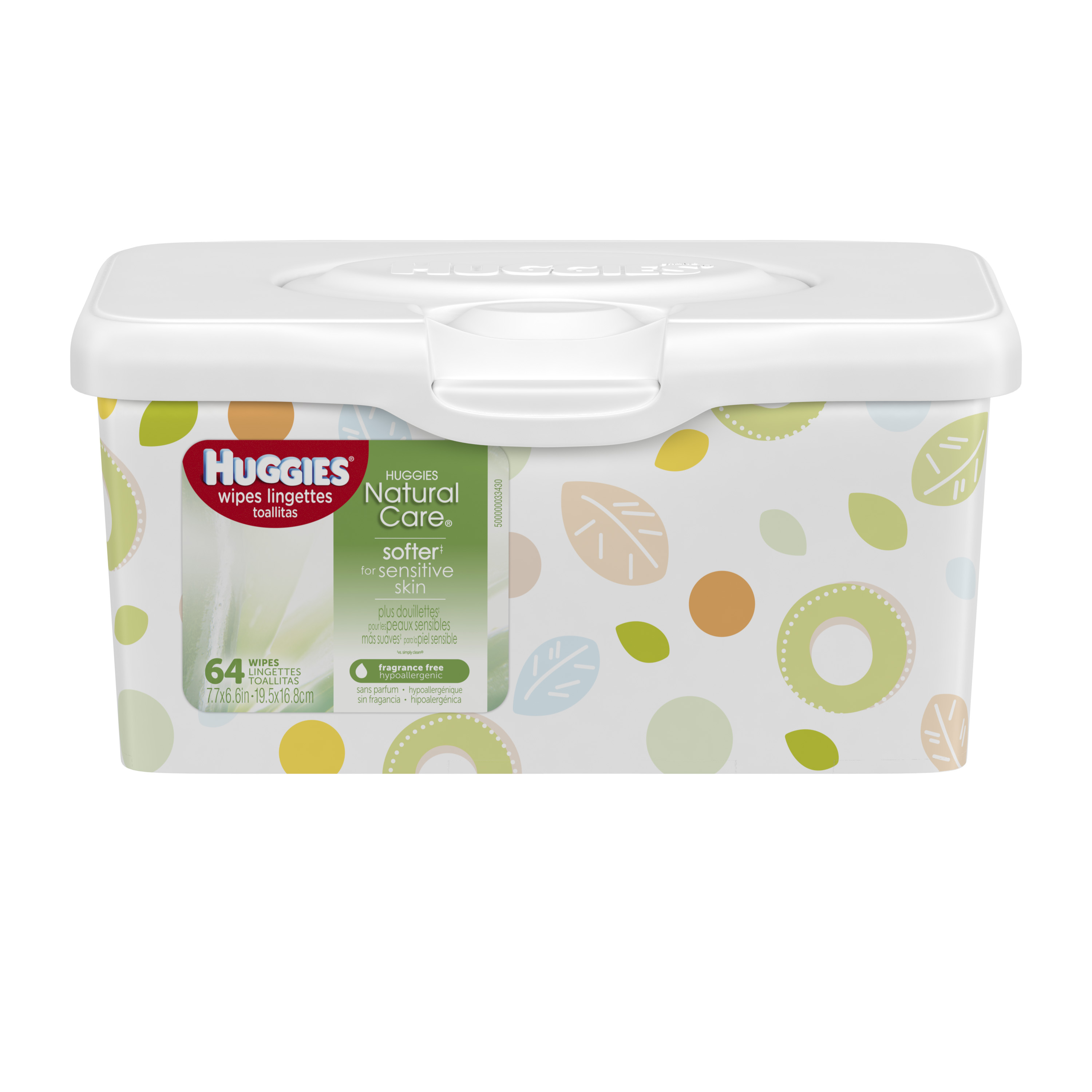 Huggies Natural Care Baby Wipes, Unscented Tub (64 ct)