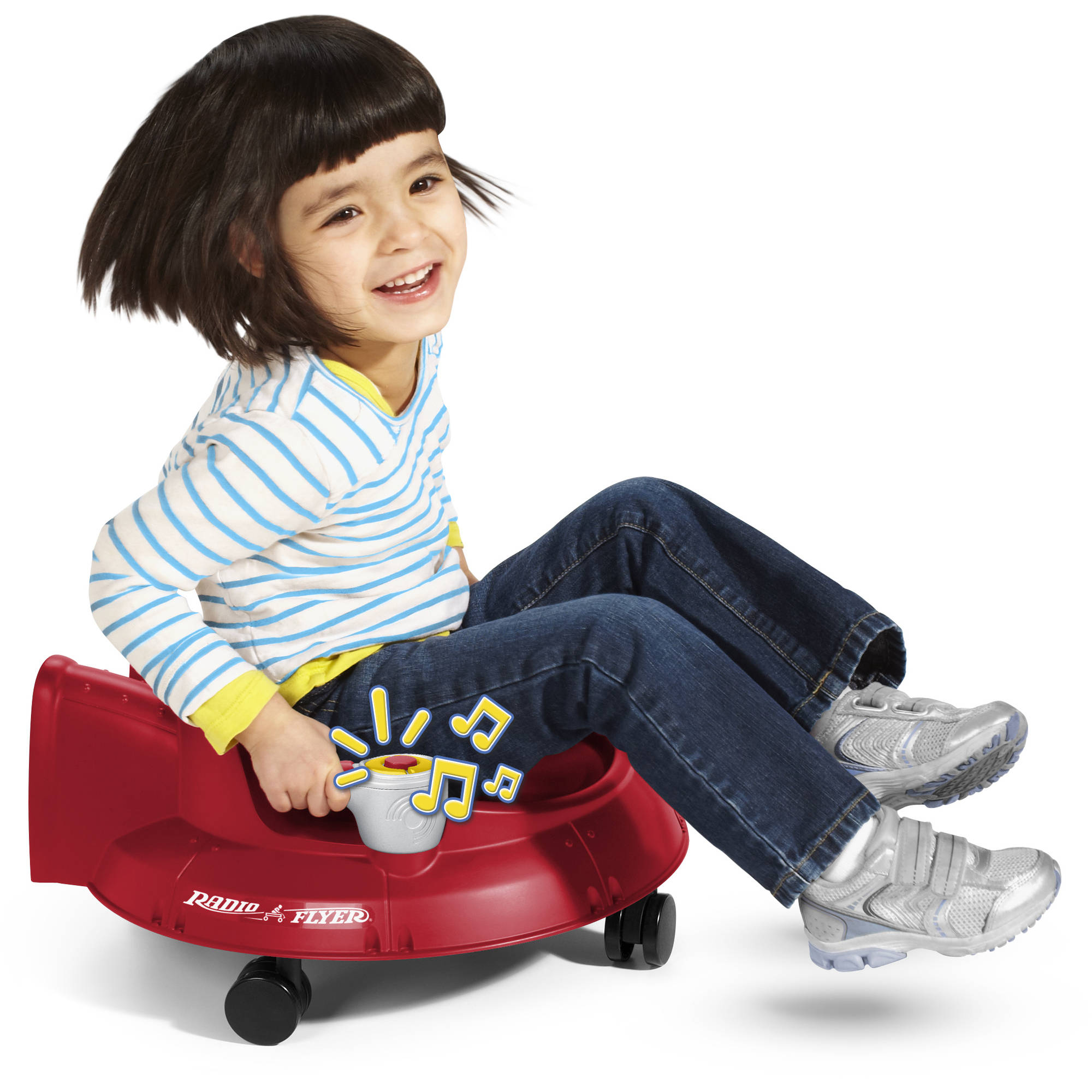 Radio Flyer Spin 'N Saucer Ride-On with Lights and Sounds